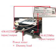 Duplexer for repeater, UHF/VHF antenna share